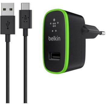 Belkin USB 2.1A + Câble USBC 1M20 - noir