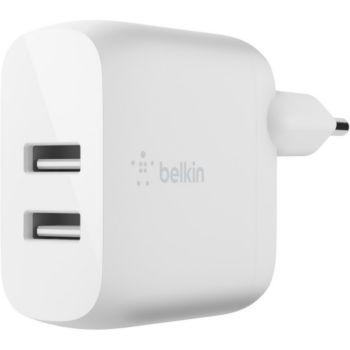 Belkin 12W +2 USB Blanc