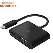 Adaptateur Belkin USB-C vers VGA 60W Noir