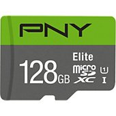 Carte Micro SD PNY microSDXC Elite 128Go + Adaptateur SD