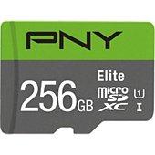 Carte Micro SD PNY microSDXC Elite 256Go + Adaptateur SD