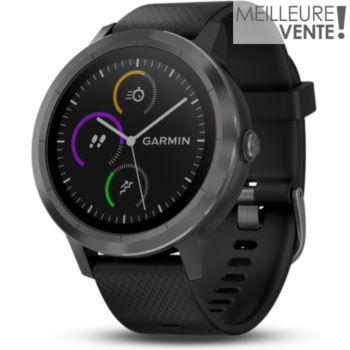 montre sport gps garmin vivoactive 3 gray/noir