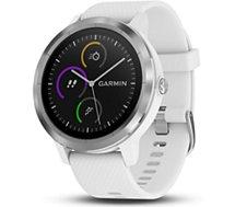 Montre sport GPS Garmin Vivoactive 3 silver/blanc