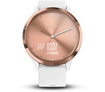 Montre connectée Garmin  Vivomove HR Sport Rose gold-white S/M