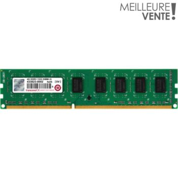 Transcend DIMM 240 broches - 4 Go 1333 MHz DDR3