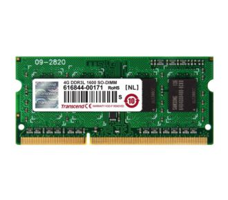 Transcend SO DIMM 204 broches  4 Go -1600 MHz DDR3