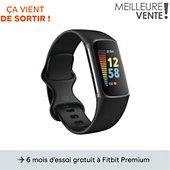 Bracelet connecté Fitbit Charge 5 Noir