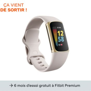 Fitbit Charge 5 Or pale Blanc lunaire