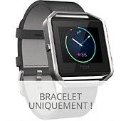 Bracelet Fitbit CUIR BLAZE NOIR L