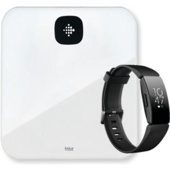 Fitbit ARIA AIR blanche+Montre INSPIRE HR noir