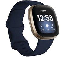 Montre sport Fitbit  Versa 3 Or et Bleu Nuit