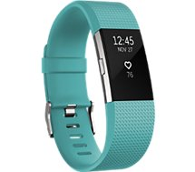 Bracelet connecté Fitbit Charge 2 Teal Silver L