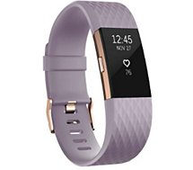 Bracelet connecté Fitbit  Charge 2 Lavender Gold L