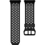 Bracelet Fitbit Perforé Noir/Gris Graphite Small - Ionic