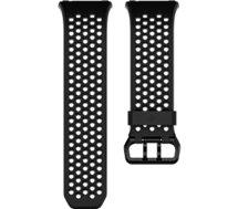 Bracelet Fitbit Perforé Noir et Gris Graphite Large
