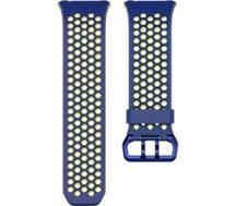 Bracelet Fitbit Perforé Cobalt/Vert Citron Small - Ionic