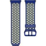 Bracelet Fitbit Perforé Cobalt - Vert Citron Large Ionic