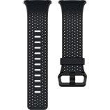 Bracelet Fitbit Cuir Perforé Bleu Nuit Large Ionic