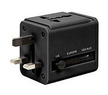 Adaptateur secteur Retrak  universel de voyage double USB intégré