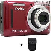 Appareil photo Compact Kodak X53 Rouge + Etui
