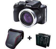 Appareil photo Bridge Kodak  Pixpro AZ421 noir + 2 batteries + étui