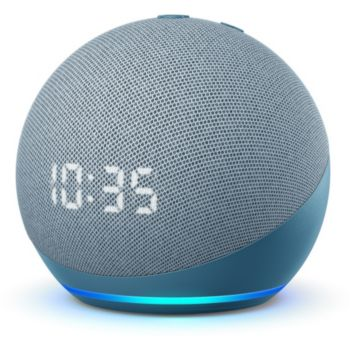 Amazon Echo Dot 4 avec Horloge Bleu gris