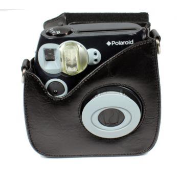 polaroid cuir noir pour pic300 sac photo et vid o. Black Bedroom Furniture Sets. Home Design Ideas