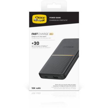 Otterbox 10 000 MAH USB-A et C Noir