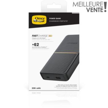 Otterbox 20 000 MAH USB-A et C Noir