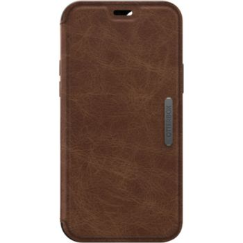 Otterbox iPhone 12/12 Pro Strada cuir marron