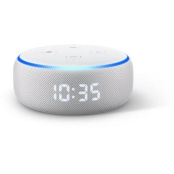 Amazon Echo Dot 3 avec Horloge Sable