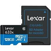 Carte Micro SD Lexar Carte Micro-SDXC 128 Go 633x avec adapta