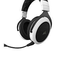 Casque gamer Corsair  HS70 WIRELESS Gaming White
