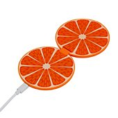 Chargeur induction Helix double 10 W Orange