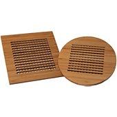 Dessous de plat Totally Bamboo x2 rond et carre 20 cm