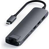 Adaptateur Lightning/USB Satechi Hub USB-C slim avec adaptateur Ethernet