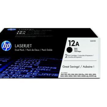 HP N°12A Noir x 2