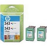 Cartouche d'encre HP  N°343 (2 cartouches)