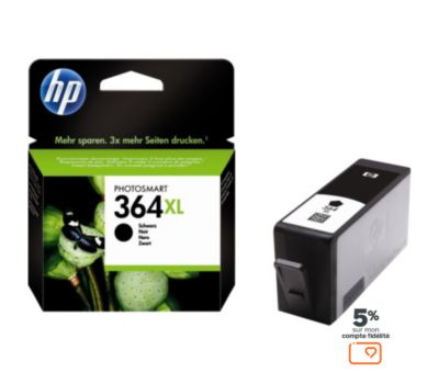 Cartouche d'encre HP N°364XL noire