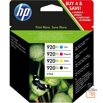 HP N°920 XL (Noire Cyan Jaune Magenta)