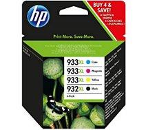 Cartouche d'encre HP  N°932XL +N°933XL (N/C/M/J)