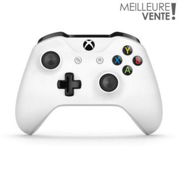 Microsoft Manette sans fil Xbox One Blanche