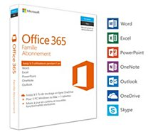 Logiciel de bureautique Microsoft  Office 365 Famille