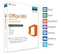 Logiciel de bureautique Microsoft  Office 365 Personnel.