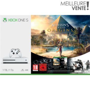 Microsoft 1To Assassins Creed Origins + Rainbow 6     reconditionné
