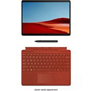 Clavier tablette Microsoft  Clavier+Stylet Surface Pro X Rouge Coque