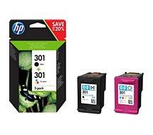 Cartouche d'encre HP  301 noire + 3 couleurs