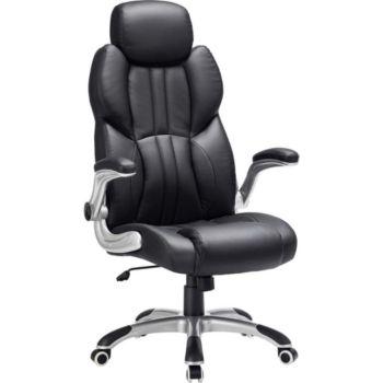 Helloshop26 Siège de bureau pivotant fauteuil ergono