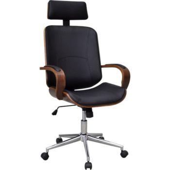Helloshop26 Fauteuil chaise siège de bureau en bois