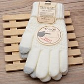 Support tablette Shot Case Gants Femme tactiles Taille M (BLANC)